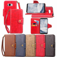 Wholesale Galaxy S3 Flip Cover Battery - Luxury phone bags Magnetic flip wallet card slots Covers shockproof cases for Samsung galaxy S3 S4 S5 S6 S7 S6edge s7edge s8 s8plus fundas
