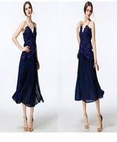 Wholesale Short Prom Dresses Cheap Online - Wholesale Sexy Spaghetti V-Neck Cocktail Dresses Formal Prom Dresses Online Cheap Party Gowns Lace Knee-Length Celebrity Dresses Custom Made