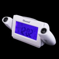 Wholesale Alarm Clock Player - V1NF Digital LCD Snooze Dual Projection Alarm Clock Clapping Voice Controlled alarm clock with mp3 player