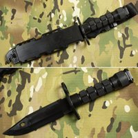 Wholesale Dagger Prop - Tactical M9 Soft Plastic Knife Model Decoration Training Knife for Cosplay Props Toy Black