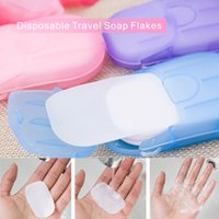 Wholesale Wholesale Soap Sheets - Portable Disposable Travel Soap Paper Flakes Clean Sterilization One-time Completion Each Box 20 Sheets Outdoor Necessary Cleaning Supplies.