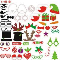 fotoğraf sopası dudakları gözlükleri toptan satış-1 takım Photo Booth Dikmeler Gözlük Bıyık Dudak Bir Sopa Düğün Doğum Günü Partisi Eğlenceli Favor