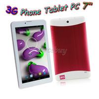 entsperren china dual sim telefone großhandel-3G WCDMA freigesetzter Telefonanruf Tablet PC MTK6572 Dual Core 7