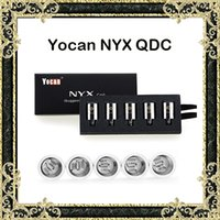Wholesale Faster Pack - Original Yocan NYX Wax Atomizer Coils Quartz Dual Coils QDC Coils Replacement Core For Yocan NYX Wax Vaporizer 5pcs pack Fast Shipping