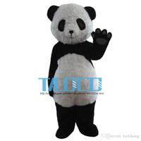 mascotes de urso adulto venda por atacado-Panda traje da mascote adulto tamanho Panda Bear mascot costume frete grátis