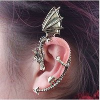 Wholesale Gothic Dragons - 5PCS 1 Lot Retro Punk Style Gothic Chinese Dragon-Shaped Fashion Earrings ear clip earring, ear hook Xmas Gift