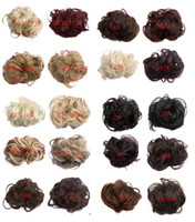 Wholesale Synthetic Hair Piece Ponytail - Synthetic Elastic Hair Scrunchie Piece Extensions Ponytail Curly 20 colors available AP-Q5