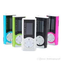 Wholesale mp3 player without radio - Christmas Gift Digital MINI Clip MP3 Music Player With LCD Screen and Led Light FM Radio Function Without Retail Box