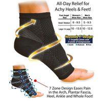 Wholesale Women S Fashion Socks - Wholesale-1pair 2016 Unisex Women Fashion NEW Foot Ankle Compression Socks Anti Fatigue Varicose Feet Sleeve(1.S M 2.L XL) Free Shipping