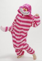 Wholesale Cheshire Cat Costumes - Wholesale-Winter New Sleepsuit Adults Cartoon Cheshire Cat Onesies Unisex Onesies Pajamas Cosplay Costumes CO43204227