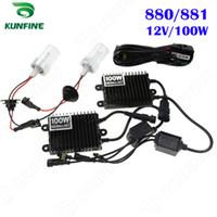 kit de xenon 881 al por mayor-12V / 100W Xenon Headlight 880/881 HID Kit de xenón de conversión HID luz con balasto AC para faro de vehículo KF-K2002-880