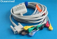 Wholesale Ecg Lead Cable - Wholesale-Compatible one-piece 12 Channel ECG Electrocardiogram Cable for Philips, 10 Leads Snap IEC