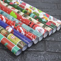 Wholesale Gift Wrapping Paper Rolls - New Christmas Wrapping Paper 7 Rolls Lot Gift Packaging Paper Drawer Liner Bundle Bulk Crafts Accessories