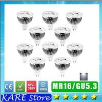 Wholesale Led Mr16 Dc 3w - X10 UNIT LED 3W 4w 5w Dimmable Bulbs MR16 dc 12V  GU5.3 ac 85-265V LED Spotlights CREE LED Lights 3 Led REAL 3x1W WHITE Led lighting