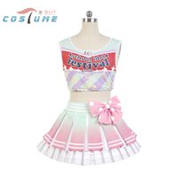 Wholesale Kotori Anime - Wholesale-LoveLive! Love Live Kotori Minami Cheerleaders Uniform Vest Skirt Anime Halloween Cosplay Costumes For Women Custom Made