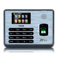 reloj de asistencia de tiempo al por mayor-Al por mayor-TCP / IP U disco Huella digital Tiempo Asistencia ZKeco TX628 Huella digital Reloj de tiempo