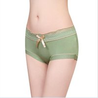 Wholesale Model Sexy Girl Underwear - Wholesale-2016 Model Cotton Women Underwear Bow Decorate Middle Waist Women Panties Sexy Girl Shorts free shipping
