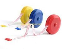 Wholesale Mini Retractable Measuring Tape - 100pcs lots Free Shipping Mini Retractable Ruler Tape Measure 60 inch Sewing Cloth Dieting Tailor 1.5M Random Color