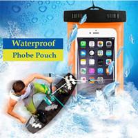 "Wholesale Underwater Phones - 6"" Universal Swimming Phone Bag PVC Waterproof Dry Bag Underwater Cases for Samsung Galaxy S8 iPhone 7 Plus 6 5s 6S Plus"