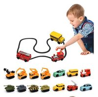 Wholesale toys for children trucks online - Creative Gift for Child MINI Magic Pen Inductive Fangle Vechicle Children s CAR Truck Tank Toy Car Random Color Delivery b1431