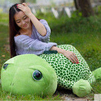 Wholesale Green Turtle Pillow - Dorimytrader 120cm Big Lovely Animal Tortoise Stuffed Toy 47'' Giant Green Turtle Plush Doll Pillow Christmas Baby Gift DY61336