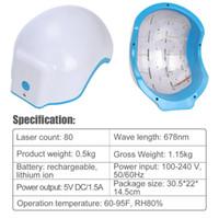 Wholesale best laser hair - 2017 New Version Portable Laser Hair Rejuvenator Best Male Hair Loss Treatment 80 Diode Household Helmet