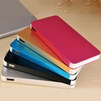 Wholesale Tablet External Battery Pack - Power Bank Slim Polymer Powerbank 8000mah USB Portable Charger For Mobile Phone Tablet PC External Battery Pack iPhone Samsung