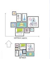 Wholesale Photo Decal Paper - XH9285 3D DIY Photo Frame Tree Wall Stickers Family Cartoon Memory Tree Wall Decor Decorative Adesivo De Parede Home Decor