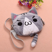 Wholesale Chicken Cat - Fried Chicken Cat Shoulder Bag Anime Kaomoji-kun Emotiction Cosplay Cute Plush Cross-body Bag 3 Colors Women Gifts