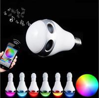 Wholesale Bt Light - Wireless BT 3.0 LED Bluetooth Bulb Speaker Cold white + RGB Music Playing & Lighting Audio Speaker With LED Light LED smart bulb