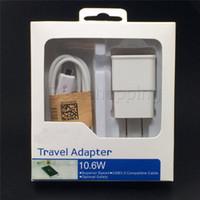 ingrosso cavo a mele-Carica rapida 2 in 1 EU US Plug 5V 2A Adattatore Home Caricatore da viaggio da parete Kit Cavo USB 2.0 Cavo sincronizzazione dati per Galaxy S4 S5 S6 S7 Andriod