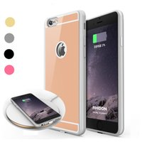 iphone telefongebühr fall großhandel-Qi Wireless Charging Receiver Hülle für iPhone 7 6 6S Plus Handy Wireless Charge Adapter Rückseite mit Verpackung
