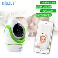 Wholesale Ip Motion Sensor Camera - HD 720P Wireless IP Camera Baby Monitor Digital WIFI Camera Pan Tilt Motion Sensor Baby Sleep Monitor Nanny Cam Babyphone