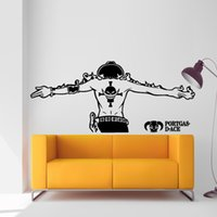 Wholesale Sticker 52 - Ace One Piece Luffy Wall Sticker Car Wall Stickers Japanese Decal Vinyl Decal Sticker Home Decoration 52*120 cm   25*57 cm