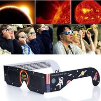 Wholesale american papers - American Solar Eclipse Glasses Multicolor Paper Frame Viewer Safe Glasses Protect Eyes to See Solar Eclipse OTH024