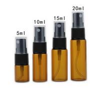 Wholesale Wholesale Amber Glass Spray Bottles - Amber Atomizer 5ml 10ml 15ml 20ml Portable Glass Filled Perfume Bottle Spray Empty Fragrance & Deodorant bottle