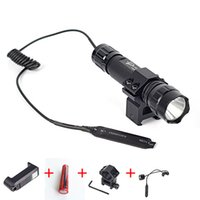 Wholesale Pressure Switch Flashlight - WF 501B Tactical Flashlight XML T6 LED Torch Lamp 2000 Lumens Lantern with Mount and Remote Control Pressure Switch