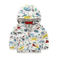 Wholesale Boys Dinosaur Hoodies - 2017 New brand chldren hoodies jackets casual dinosaur style kids boys hoodies coats spring&summer Sunscreen clothes for boys MHS003