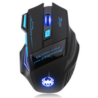 Wholesale Gaming Accessories - 2016 Adjustable For Pro Gamer 2400DPI Optical Wireless Gaming Mouse Gamer For Laptop PC Computer accessories Top quality #LYFE06