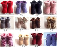 Wholesale Uk Flat Shoes - New GG Infant boys girls toddler baby boots shoes UK 4 5 6 infant snow boots Boys Girl Warm Winter Snow Shoes Boots