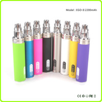 Wholesale gs ego tank - Greensound GS eGo-II 2200 mah Mega Battery KGO ONE WEEK Battery for T2 Protank Clearomizers Atomizers Vaporizer e cig Tanks