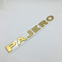Wholesale Car Sticker For Mitsubishi - 1 Pcs 3D PAJERO ABS Car Emblem Badge Body Side Logo Car Stickers Decal For Mitsubishi