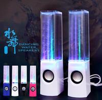 mini dançando fonte venda por atacado-Vendas Hot RainDance Fountain Speaker Nova Marca Dança Speaker Água Ativo Portátil Mini USB LED Speaker Luz Para PC MP3