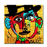 One Panel spray paint hats - hat Alec monopoly Graffiti mr brainwashart print canvas for wall art decoration oil painting wall painting picture No framed
