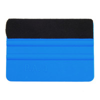 Wholesale Vinyl Applicator - Squeegee Car Film Tool Vinyl Blue Plastic Scraper Squeegee With Soft Felt Edge Window Glass Decal Applicator