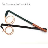 echtes leder peitsche großhandel-Länge 53cm Whip Professional Pet Trainer Heeling Stick Echtes Leder 100% Handarbeit Hund Produkte für Training Haustiere