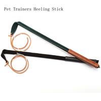 látigos de cuero hechos a mano al por mayor-Longitud 53cm Whip Profesional Entrenadores de mascotas Heeling Stick Cuero genuino 100% Hecho a mano Productos de perros para el entrenamiento Mascotas