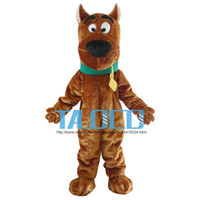 Wholesale Scooby Doo Mascot Costumes - New Scooby Doo Dog Mascot Costume Adult Size Fancy Dress Christmas