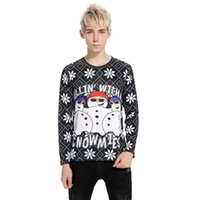 Wholesale men s hoodie t shirts for sale - Group buy Autumn And Winter New Style Hot Selling Snowman War D Printing T shirt Cristmas New Hoodies Sweater