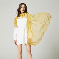 lenços de seda de corante venda por atacado-Espreguiçadeiras de viagem de praia Pashmina Shawls Seda para mulheres 15 cores Chiffon Shawl Beachwear Tie Dye Moda Lady Scarf xales